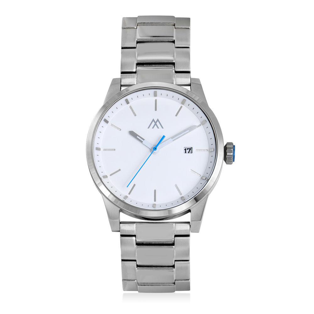 Odysseus Day Date Minimalist Stainless Steel Watch