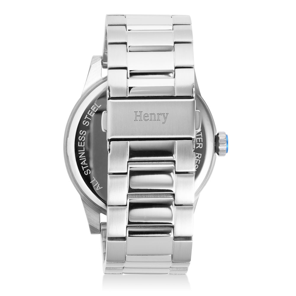 Odysseus Day Date Minimalist Stainless Steel Watch - 2