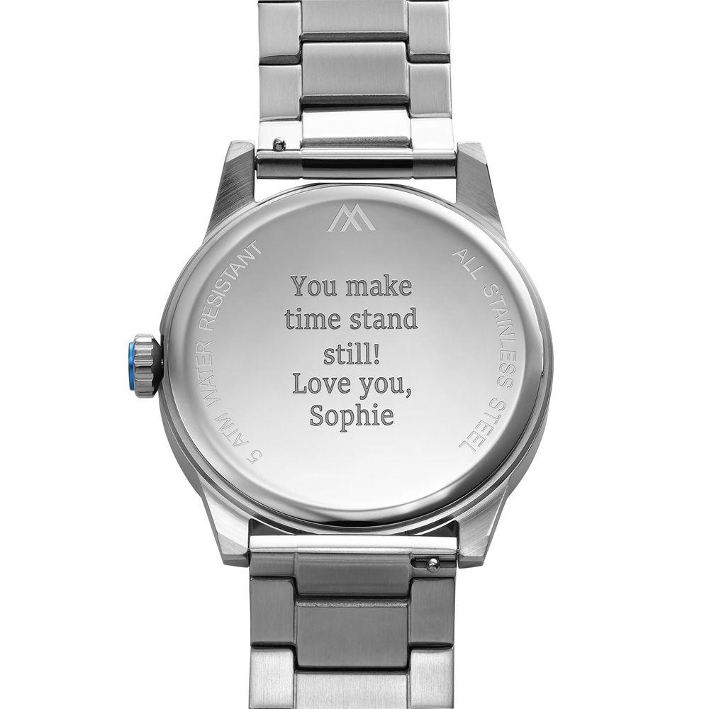 Odysseus Day Date Minimalist Stainless Steel Watch - 3