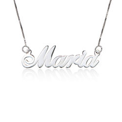 14ct White Gold Classic Name Necklace product photo