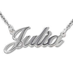Personalised Classic Name Necklace in Silver product photo