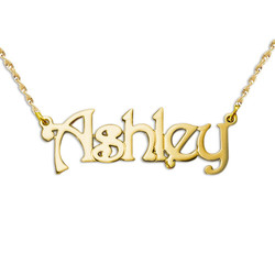 Personalised 14ct Gold Name Necklace product photo