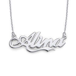 Sterling Silver inspired by Coca Cola Style Name Necklace product photo