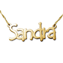 Tempus Style 14ct Gold Name Necklace product photo
