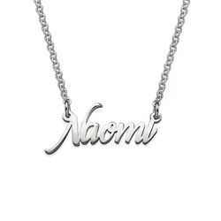 Tiny Name Necklace in Extra Strength Sterling Silver product photo