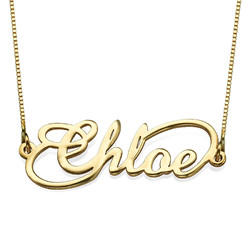 14ct Infinity Style Name Necklace product photo