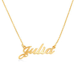 Small 18ct Gold-Plated Silver Classic Name Necklace product photo