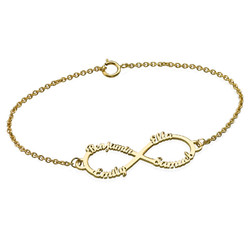 14ct Gold Infinity 4 Names Bracelet product photo