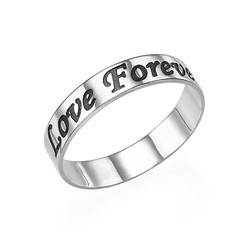 Script Sterling Silver Promise Ring product photo