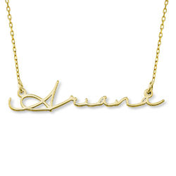 Signature Style Name Necklace - 10ct Gold product photo
