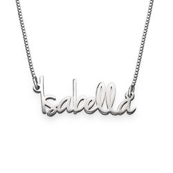 Tiny Name Necklace for Women in Extra Strength Silver product photo