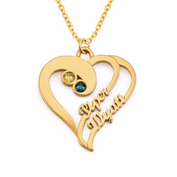 Two Hearts Forever One Necklace in 18ct Gold Vermeil product photo