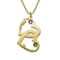 Heart in Heart Necklace in 18ct Gold Plating product photo
