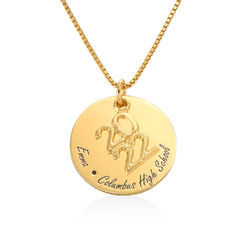 Engraved Graduation Necklace in Gold Vermeil product photo
