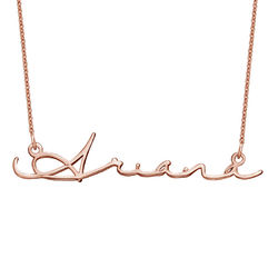 Signature Style Name Necklace - Rose Gold Plated product photo