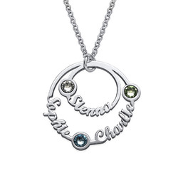 Two Circle Script Necklace - Yours Truly Collection product photo