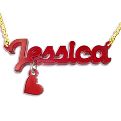 New York Style Colour Necklace with Heart Charm product photo