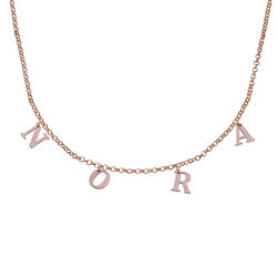 Name Choker with 18ct Rose Gold Plating product photo