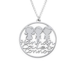 Mother Circle Necklace in Silver Sterling product photo