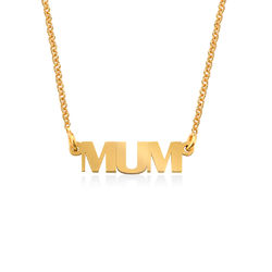 Capital Letters Name Necklace with 18ct Gold Plating product photo