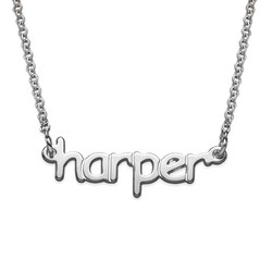 Tiny Name Necklace in Sterling Silver for Teens product photo