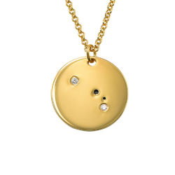Aries Constellation Necklace with Diamonds in Gold Plating product photo