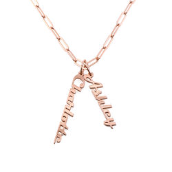 Chain Link Name Necklace in 18ct Rose Gold Plating product photo