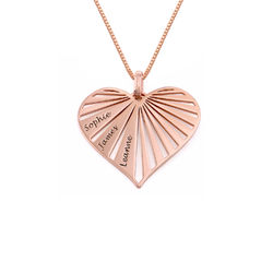 Family Necklace in 18ct Rose Gold Plating - Mini design product photo