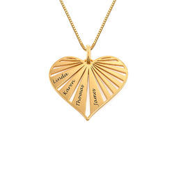 Family Necklace in 18ct Gold Vermeil - Mini design product photo