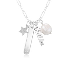 Siena Chain Bar Necklace in Sterling Silver product photo
