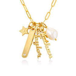Siena Chain Bar Necklace in 18ct Gold Plating product photo