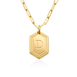Cupola Link Chain Necklace in 18ct Gold Plating product photo