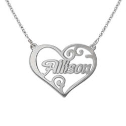 Personalised Jewellery Heart Name Necklace product photo