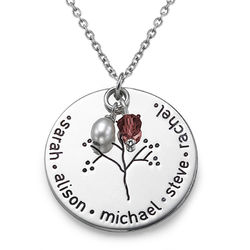 Silver Personalised Family Tree Necklace product photo