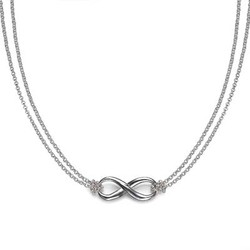 Silver Infinity Necklace product photo