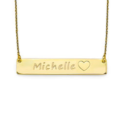 18ct Gold Plated Icon Bar Necklace product photo