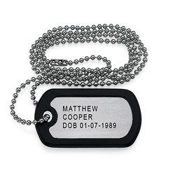 Engraved Dog Tag in Stainless Steel product photo