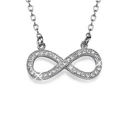 Infinity Necklace in Silver with Cubic Zirconia product photo