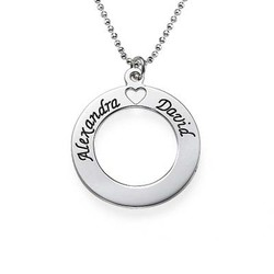 Sterling Silver Couples Love Necklace product photo