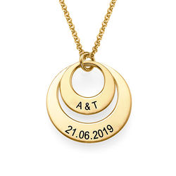 Jewellery for Mums - Disc Necklace in 18ct Gold Vermeil product photo