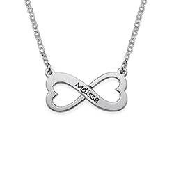 Infinity Heart Necklace in Silver product photo