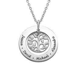 Silver Family Tree Necklace product photo