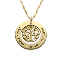 Gold Plated Family Tree Necklace product photo