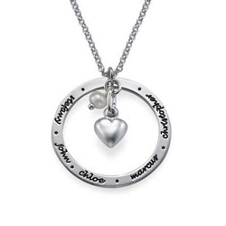 Personalised Mum Jewellery in Silver product photo