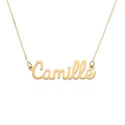 Personalised Cursive Name Necklace in 10ct Yellow Gold product photo