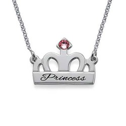Personalised Silver Crown Necklace product photo