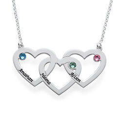 Intertwined Hearts Necklace product photo