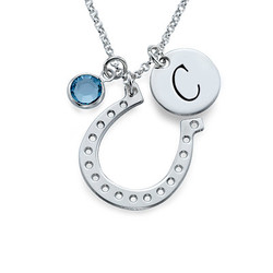 Horseshoe Jewellery with Initial Charm product photo