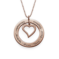 Love My Family Necklace - Rose Gold Plated product photo
