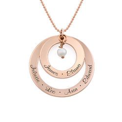 Grandmother Birthstone Necklace in Rose Gold Plating product photo